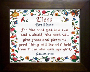 Name Blessings -  Elena | Crafting | Cross-Stitch | Religious