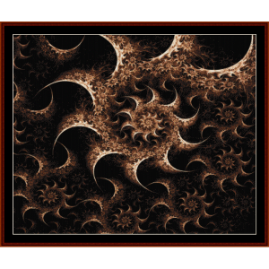 Fractal 373 cross stitch pattern by Cross Stitch Collectibles | Crafting | Cross-Stitch | Wall Hangings