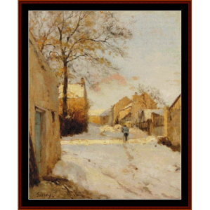 Village Street in Winter - Sisleycross stitch pattern by Cross Stitch Collectibles | Crafting | Cross-Stitch | Other