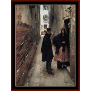 street in venice ii - sargentcross stitch pattern by cross stitch collectibles
