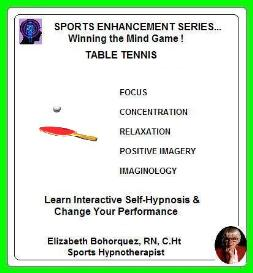 sports hypnosis - table tennis performance