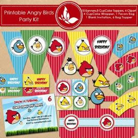 Angry Birds Printable Party Supplies