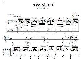 ave maria, high voice in  b major (sopr/tenor),  schubert latin digi