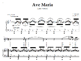 ave maria, high voice in b flat major (sopr./tenor schubert (latin). digital score. a4 (portrait)