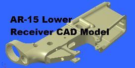 ar15 mil spec lower receiver cad model