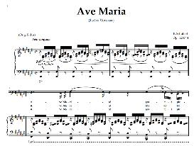 ave maria, low voice in  f sharp majo bass),  schubert  latin digi