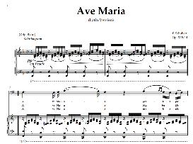 Ave Maria, Low Voice  in F Major (Bass) Schubert Latin digi | eBooks | Sheet Music