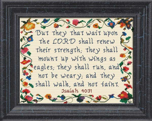 Wait Upon The LORD | Crafting | Cross-Stitch | Religious