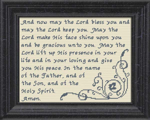 The Benediction | Crafting | Cross-Stitch | Religious