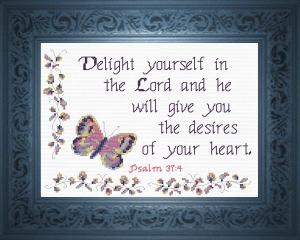 Delight in the Lord | Crafting | Cross-Stitch | Religious