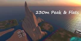 230m peaks & flats