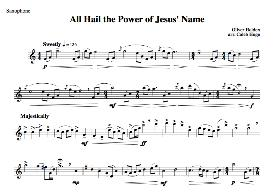all hail the power of jesus name