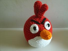 angry bird red cardinal beanie crochet pattern