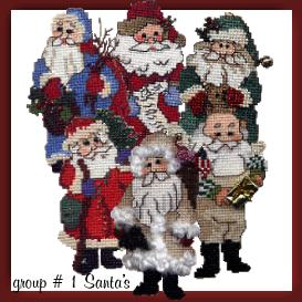 old fashioned santa ornament charts 1