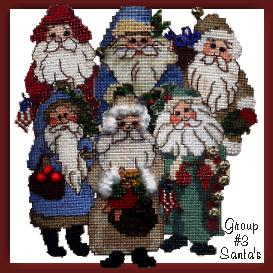 old fashioned santa ornament charts 3