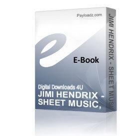 JIMI HENDRIX - SHEET MUSIC, GUITAR TABS, 12 SONGS