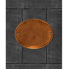texture illustration with leather label