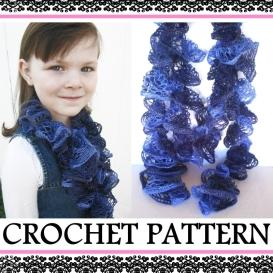 how to crochet a ruffle scarf  - pdf pattern