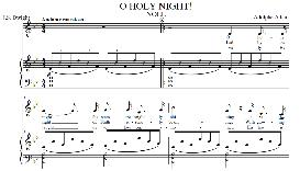 o holy night, medium voice in b flat major (mezzo) adam digi