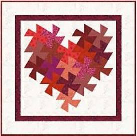 hearts delight wallhanging