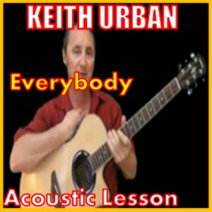 learn to play everybody by keith urban