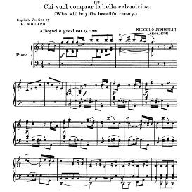 Chi vuol comprar, High Voice in C Major, N.Jommelli. Soprano/Tenor. Anthology of Italian Song of the 17th and 18th centuries (Parisotti), Vol.1, Schirmer (1894 | eBooks | Sheet Music