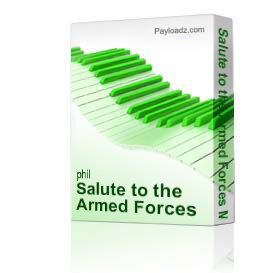 salute to the armed forces medley - phil brower series satb w/piano