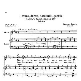 Danza danza, Medium Voice in B Flat Minor , F. Durante Schirm | eBooks | Sheet Music
