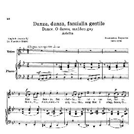 Danza, danza, fanciulla; Low Voice in G Minor, F.Durante. Transposition for Low Voice (Schirmer). For Contralto, Bass, Countertenor.. Source: Anthology of Italian Song of the 17th and 18th centuries (Parisotti), Vol.2, Schirmer (1894) | eBooks | Sheet Music