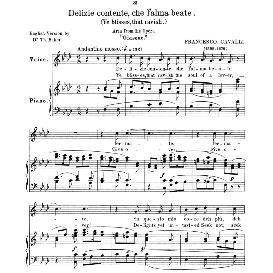 Delizie contente, Low Voice in F Minor, F.Cavalli. For Contralto, Bass, Countertenor. Anthology of Italian Song of the 17th and 18th centuries (Parisotti), Vol.2, Schirmer (1894) | eBooks | Sheet Music
