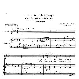 Già il sole dal Gange, Medium Voice in A Flat Major, A.Scarlatti. For Soprano, Tenor, Mezzo, Baritone. Reprint (Schirmer). Source: Anthology of Italian Song of the 17th and 18th centuries (Parisotti), Vol.2, Schirmer (1894 | eBooks | Sheet Music