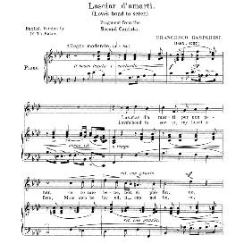Lasciar d'amarti, Medium Voice in F Minor, F.Gasparini. For Mezzo, Baritone, Soprano. Anthology of Italian Song of the 17th and 18th centuries (Parisotti), Vol.2, Schirmer (1894) | eBooks | Sheet Music