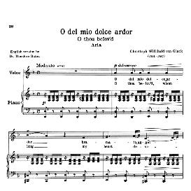O del mio dolce ardor, Low Voice in D Minor, C.W.Gluck. For Contralto, Bass. Transposition for Low Voice. Source: Anthology of Italian Song of the 17th and 18th centuries (Parisotti), Vol.1, Schirmer (1894) | eBooks | Sheet Music