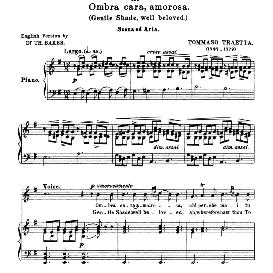 Ombra cara, amorosa; High Voice in E Minor, T.Traetta. For Soprano, Tenor. Anthology of Italian Song of the 17th and 18th centuries (Parisotti), Vol.1, Schirmer (1894) | eBooks | Sheet Music