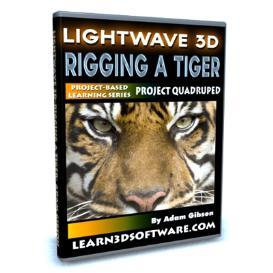 lightwave 11-rigging a tiger-project quadruped
