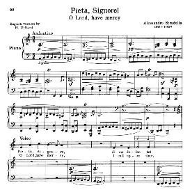 pieta signore, low voice in a minor, a. stradella. for contralto, bass, countertenor. schirmer (1914)