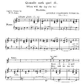 Quando sara quel di, Medium-Low Voice in C Major, A. Tenaglia. For Mezzo, Baritone. Anthology of italian Song of the 17th and 18th Centuries, Parisotti Vol. 2, Schirmer 1894 | eBooks | Sheet Music