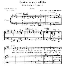 Ragion sempre addita, High Voice in A Major, A. Tenaglia. For Soprano, Tenor. Anthology of italian Song of the 17th and 18th Centuries, Parisotti Vol. 2, Schirmer (1894), | eBooks | Sheet Music