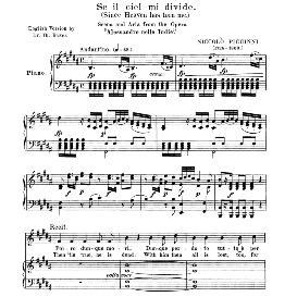 Se il ciel mi divide, Medium Voice in D Minor, N. Piccini. For Mezzo, Baritone. Anthology of italian Song of the 17th and 18th Centuries, Parisotti Vol. 2, Schirmer (1894)   eBooks   Sheet Music