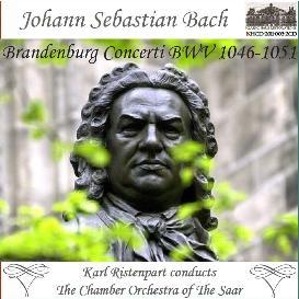 j. s. bach: brandenburg concerti, bwv 1046-1051 - chamber orchestra of the saar/karl ristenpart