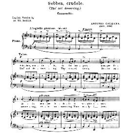 Sebben crudele, Medium-Low Voice in D Minor, A. Caldara. For Mezzo, Baritone. Anthology of italian Song of the 17th and 18th Centuries, Parisotti Vol. 1, Schirmer (1894) | eBooks | Sheet Music