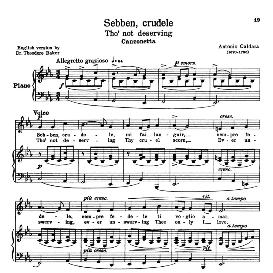 Sebben crudele, Low Voice in C Minor, A. Caldara;. For Contralto, Bass, Countertenor. Transposition for Low Voice. Schirmer. Source: Anthology of italian Song of the 17th and 18th Centuries, Parisotti Vol. 1, Schirmer (1894) | eBooks | Sheet Music