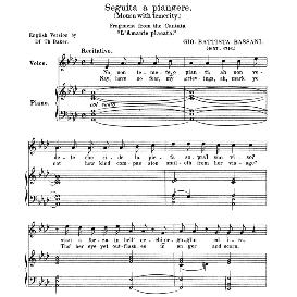 Seguita a piangere, Medium Voice in F Minor, G.B.Bassani. Anthology of italian Song of the 17th and 18th Centuries, Parisotti Vol. 2, Schirmer (1894) | eBooks | Sheet Music