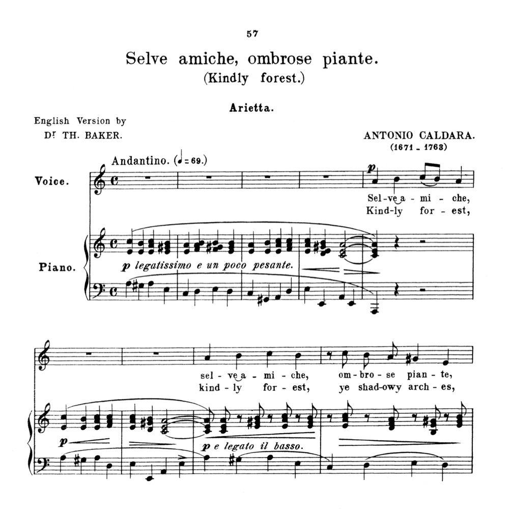 selve amiche medium voice in a minor for soprano high soprano tenor lyric baritone anthology of italian song of the 17th and 18th centuries