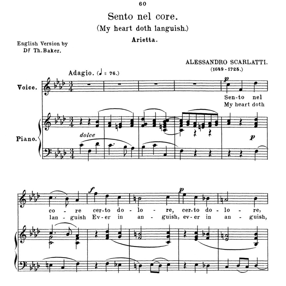Anthology Of Italian Song Of The 17th And 18th Centuries, Parisotti Vol 2,  Schirmer (1894)  Ebooks  Sheet Music