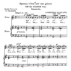Spesso vibra per suo gioco, Low Voice in A Minor. For Contralto, Bass. Anthology of italian Song of the 17th and 18th Centuries, Parisotti Vol. 1, Schirmer (1894) | eBooks | Sheet Music