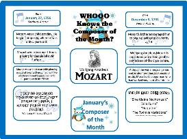 mozart composer of the month kit