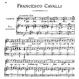 Affè affè mi fate ridere, Medium Voice in B Flat Major, F.Cavalli. For Mezzo, Baritone. From: Arie Antiche (Parisotti) -3-Ricordi (1889) | eBooks | Sheet Music