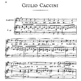 Amor ch'attendi, Medium-low Voice in G Minor, G.Caccini. For Mezzo, Baritone. From: Arie Antiche (Parisotti) -3-Ricordi (1889 | eBooks | Sheet Music