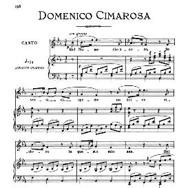 Bel nume che adoro, Low Voice in E Flat Major, D.Cimarosa. For Contralto, Bass, Countertenor. From: Arie Antiche (Parisotti)-3-Ricordi (1889) | eBooks | Sheet Music